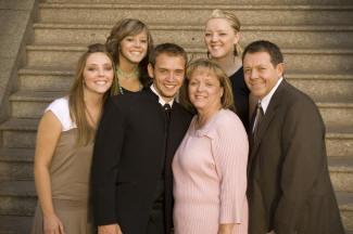 Family at Jason's wedding at the Salt Lake Temple