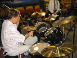 Jason playing drums in his first gig with the band Lack of Talent