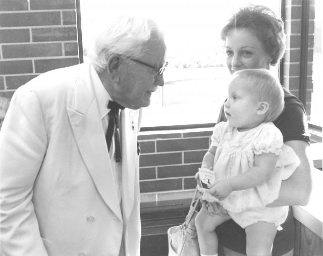 Becky with Colonel Sanders