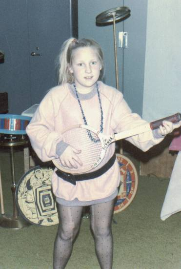 Becky playing in the band