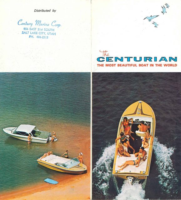 Centurian boat brochure. See <a href=