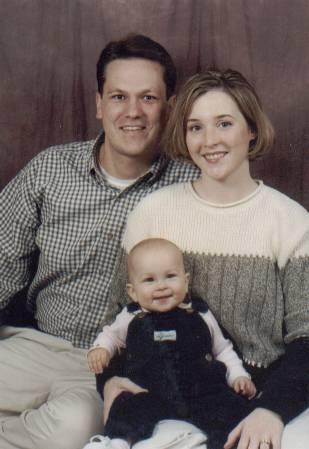 Spencer, Jennifer and Lauren Christmas 2000