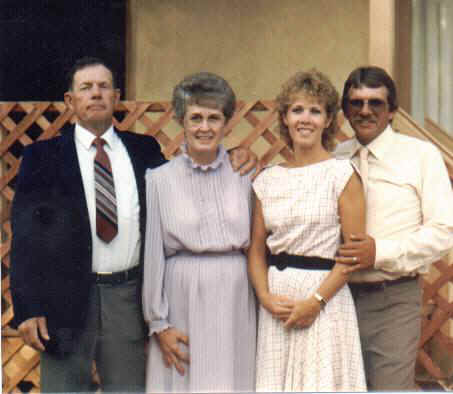Don, Merle, Donna, and Ken Frandson, June 1986