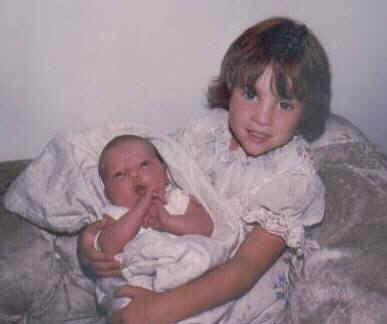 Jennifer holding Elizabeth