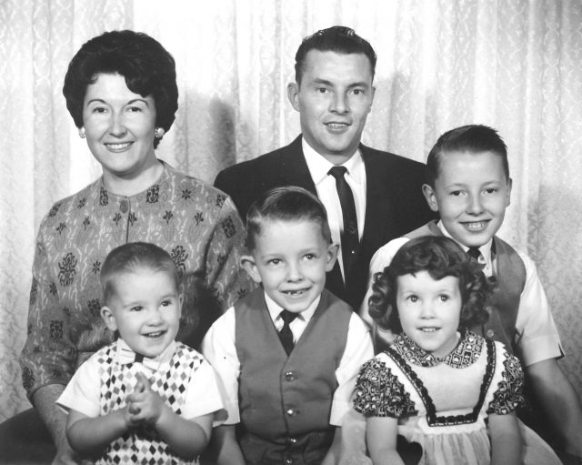 Richman family, Christmas 1962