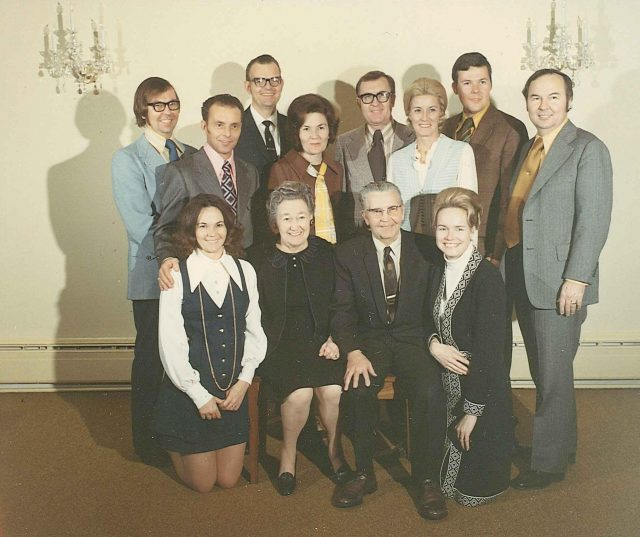 Seely family with spouses, Dec 1972