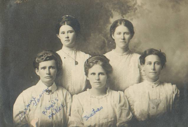 Florence Gosney (Floyd East's mom) on left and her sisters