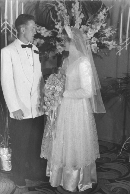 Glen and Jean Seely wedding
