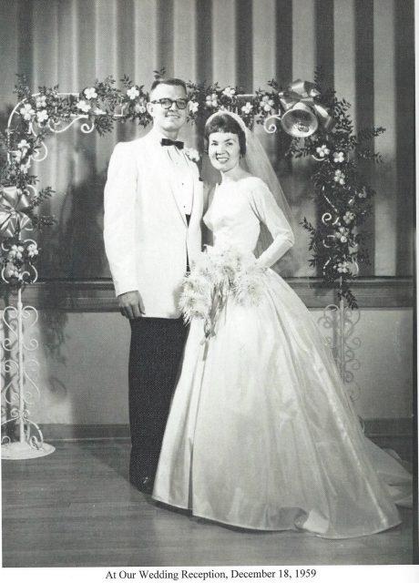 Gwen and Ken Goates wedding reception, December 18, 1959