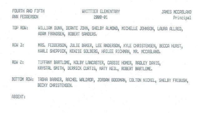 Hailee's class photo, grades 4-5