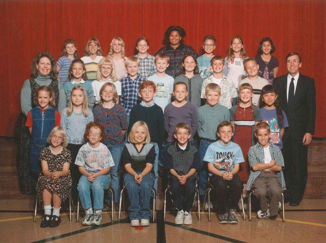 Hailee's class photo, fourth grade