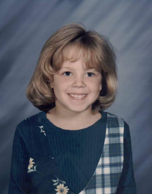 Kindergarten, age 5, 1995
