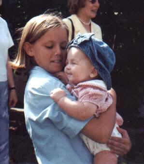Hailee holding her cousin Lauren Wintersteen