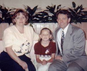 Hailee's baptism in 1998 at the Baptistry at the Tabernacle