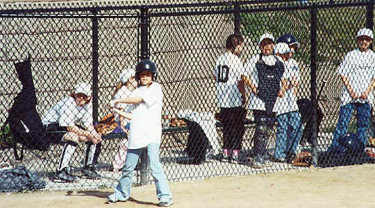 Hailee playing with the Disco Girls softball team 2001