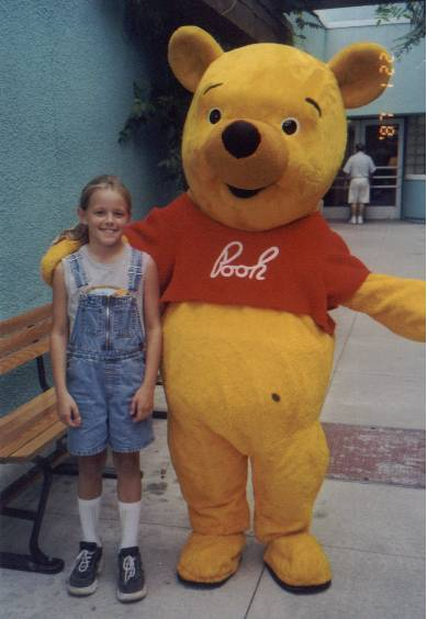 Hailee and Whinie the Pooh in Orlando 1999