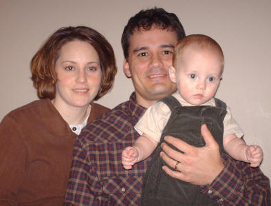 Julie, Johnny Hester, and Weston, December 2005