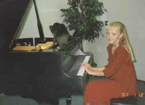 Jamie at a piano recital