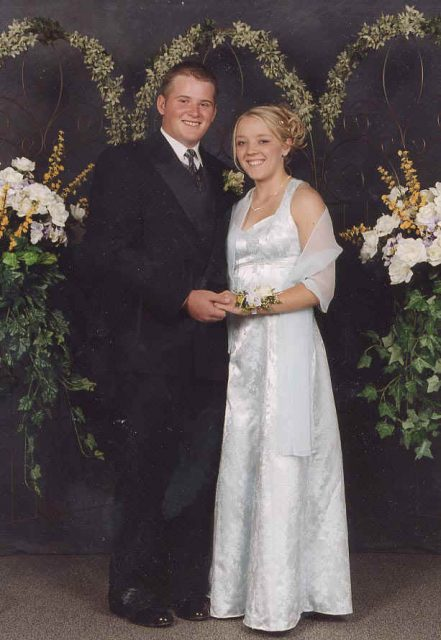 Jamie senior ball, 2001 with Derek Dangerfield