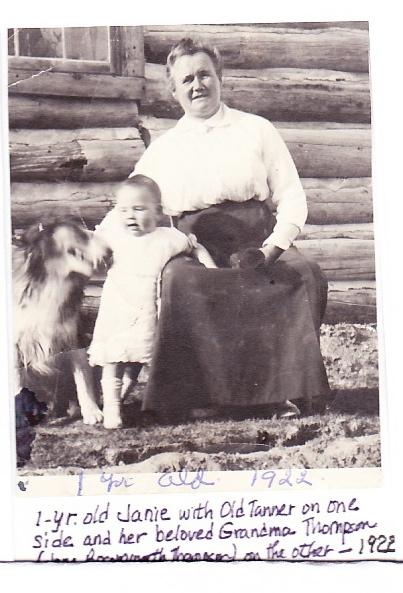 Jane Bosomworth in 1922