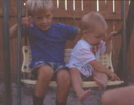 Jason and Hailee on swing