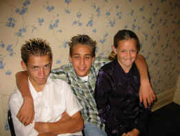 Jason, his friend Mike Carver, and Hailee at Julie's & Johnny's wedding& reception, November 10, 2001, Boise, Idaho