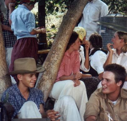 Jason on pioneer trek, 2000