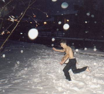 Jason playing in the snow