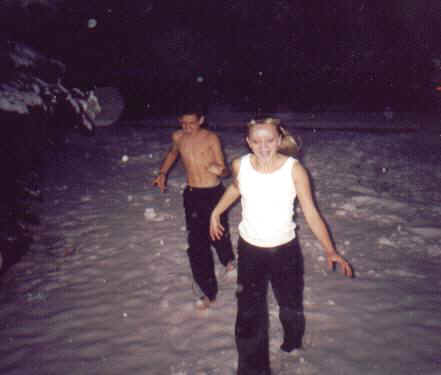 Jason and Jamie in the snow