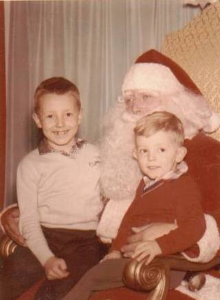 Jeff and Larry with Santa 1958