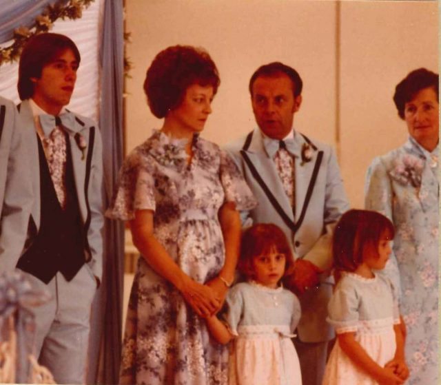 at Joy's and Blair's reception, June 5, 1980