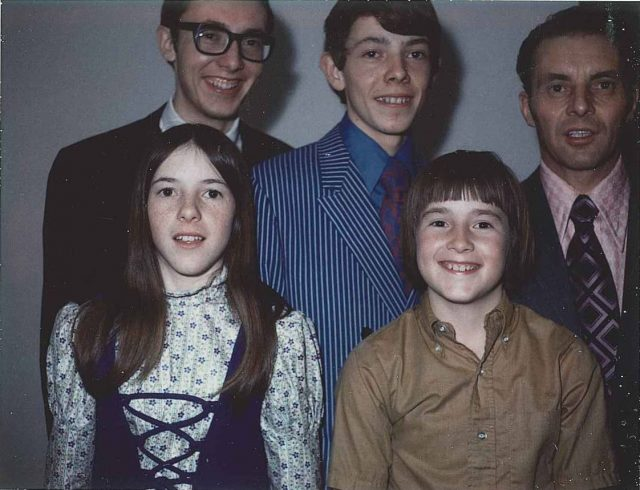 Joy, Rick, Jeff, Larry, and Lynn Richman, Dec. 16, 1971