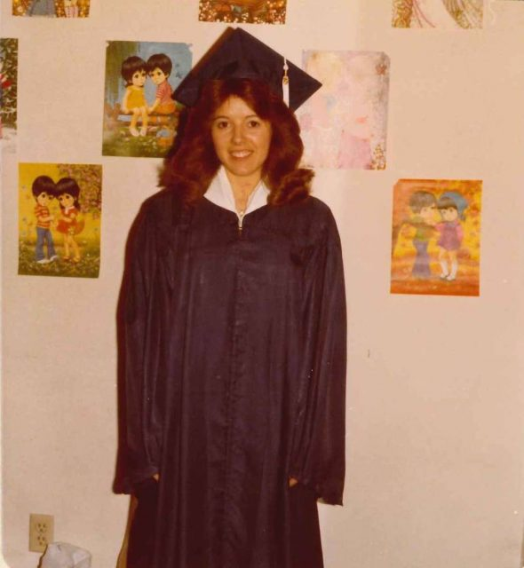 Joy, Ricks College graduation 1979
