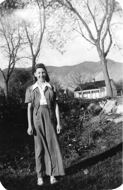 Joyce, 14 years old, about 1942