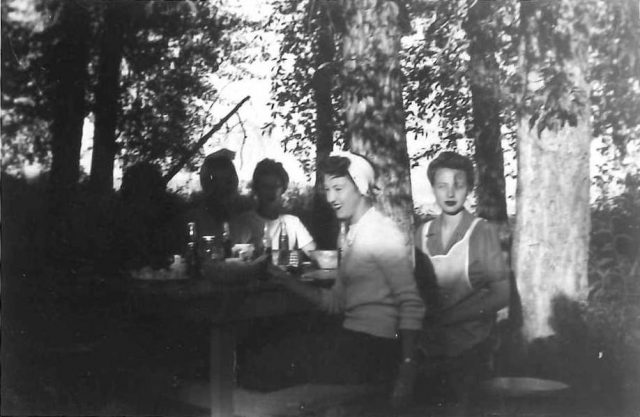 Joyce at Bear Lake with friends (Joyce is 2nd from right)