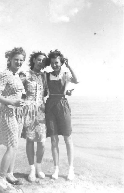 Joyce at Bear Lake with friends (Joyce is far right)