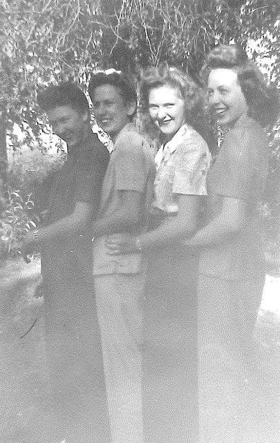 Joyce at Bear Lake with friends (Joyce is far left)