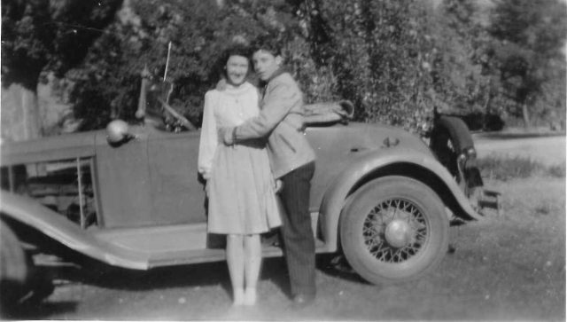 Joyce and Lynn with 1929 Chevy Roadster