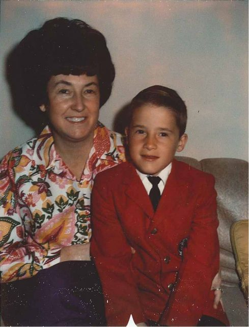 Rick and his mother, Joyce, March 30, 1969