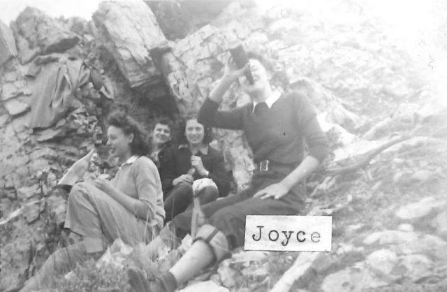 Joyce with friends