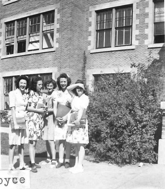 Joyce and high school friends.