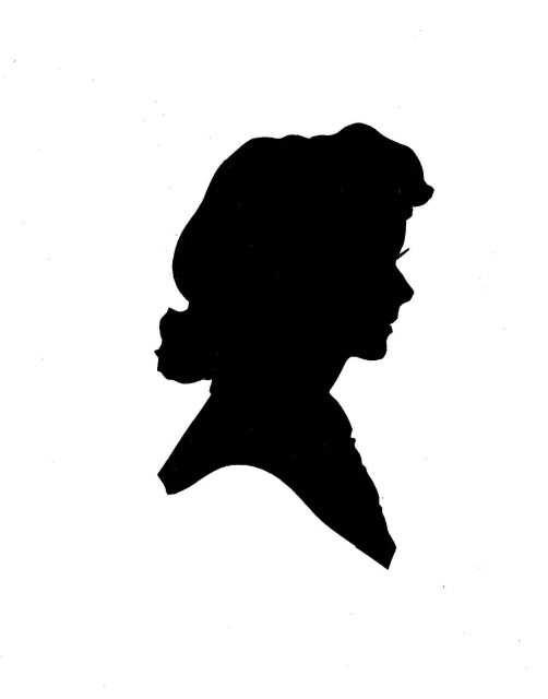 Joyce silhouette made in the Summer of 1946 at The Steak House