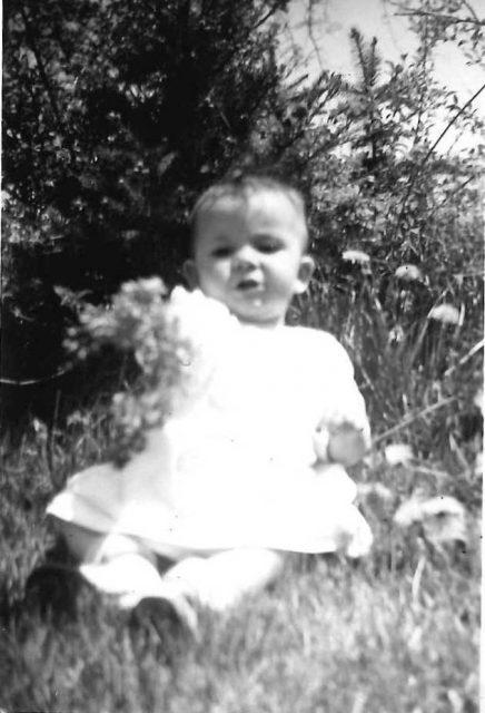 Karen Seely, 8 months