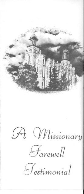 Richard Kent Seely missionary farewell program cover