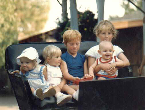 Jamie, Lanae, DJ, Jason, and Krista in June 1986