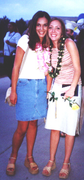 Lanae and Karina Beyeler on graduation day 2001