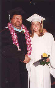 Lanae with her principal on graduation day, June 1, 2001