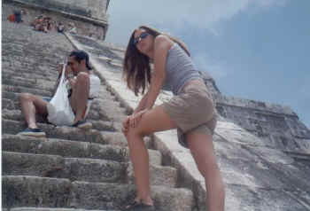 Lanae on the steps of Teotihuacan, Mexico