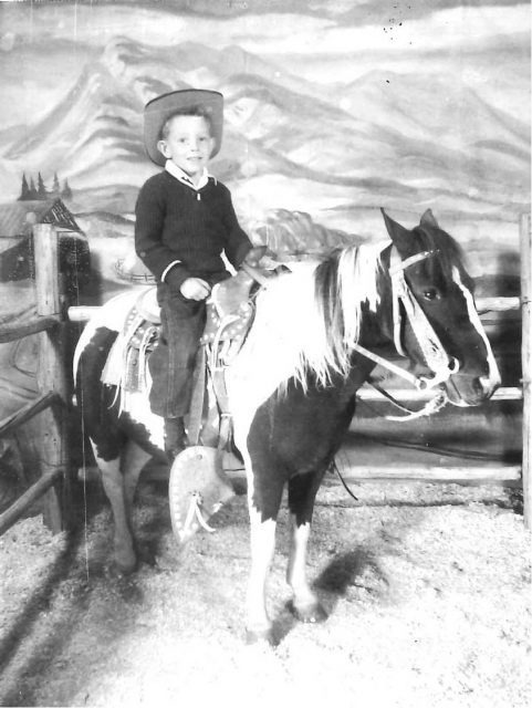 Larry on a horse
