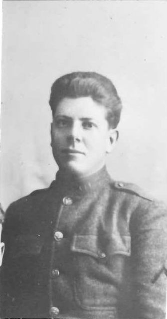 Leon in the service in World War I